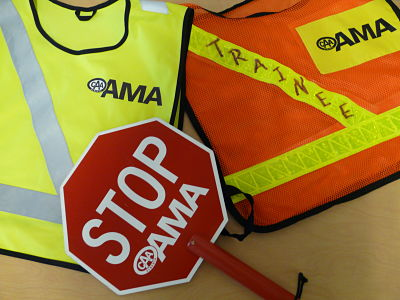 Our students can volunteer to be AMA School Safety Patrols.